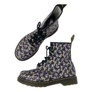Dr. Marten Mini Tydee Purple Yellow Floral Boot 10